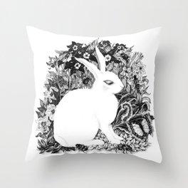 Ghost Bunny Throw Pillow