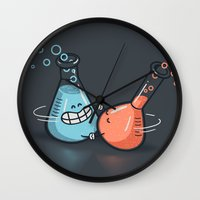 chemistry Wall Clocks featuring Chemistry by Walmazan