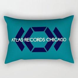 Atlas Records Chicago Rectangular Pillow