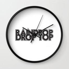 Raindrop, Drop Top Wall Clock