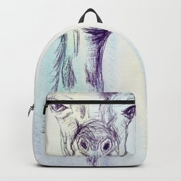 Watercolor and Ink Giraffe Backpack