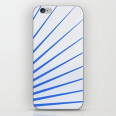 Blue rays iPhone & iPod Skin