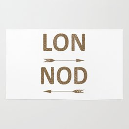 Cool LONDON Typography with arrows Rug