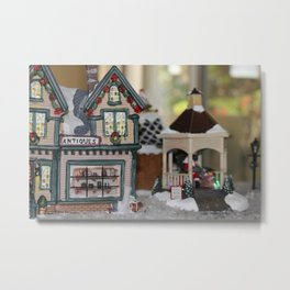 Antiques In Christmas Town Metal Print
