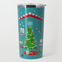 Retro Holiday Decorating iii Travel Mug