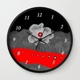Poppy and red rivers Wall Clock