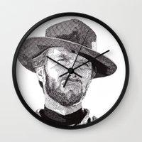 clint barton Wall Clocks featuring Clint II by Rik Reimert