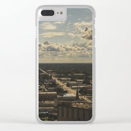 cloud cover Clear iPhone Case