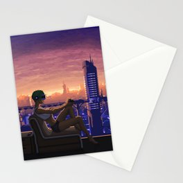 Dystopian Gamer Stationery Cards