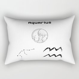 Aquarius Star Sign Rectangular Pillow