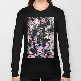 Fluid Acrylic (Black, white and pink) Long Sleeve T-shirt