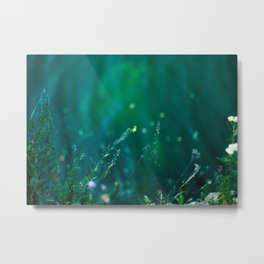 Fairy Tail - Flower on the Water - Magic Grass Metal Print