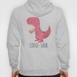 Coffee-saur | Pink Hoody