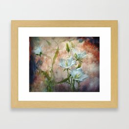 Campanula on the wild side Framed Art Print