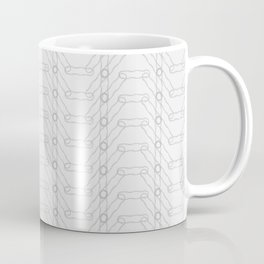 Grey Spiro Pattern Coffee Mug
