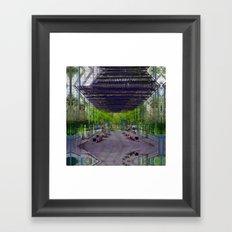 Honest gated gape jury. Framed Art Print