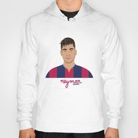 neymar Hoodies featuring NEYMAR - FC BARCELONE by THE CHAMPION'S LEAGUE'S CHAMPIONS
