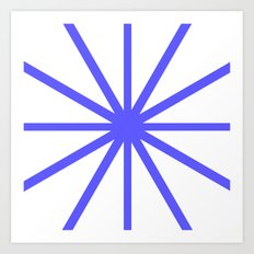Dark Blue Clock Art Print