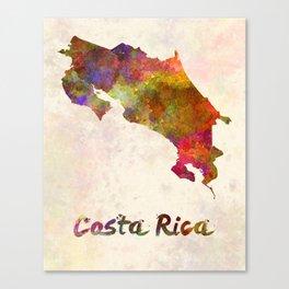 Costa Rica in watercolor Canvas Print