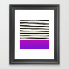 Galaxy x Stripes Framed Art Print