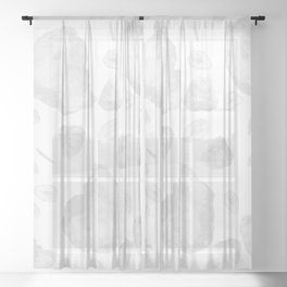 Vintage Style Gemstone Pattern Sheer Curtain