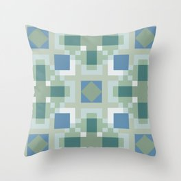 Gentle Shaded Plaid Throw Pillow