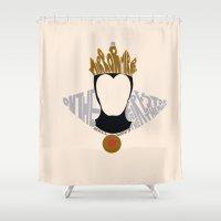 evil queen Shower Curtains featuring evil queen by pokegirl93