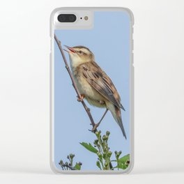 Sedge Warbler Clear iPhone Case