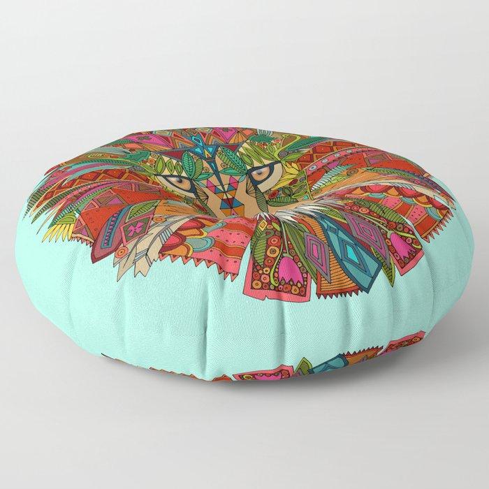 lion mint Floor Pillow