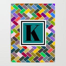 K Monogram Poster
