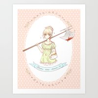 misandry comes in powdered pink lace Art Print