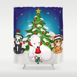 Wild Christmas! Shower Curtain