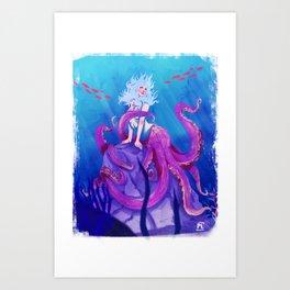 Octomaid Art Print