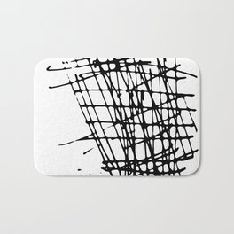 Sketch Black and White Bath Mat