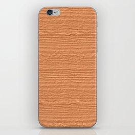 Peach Cobbler Wood Grain Color Accent iPhone Skin
