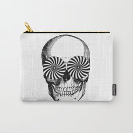 Black & White - Optical Skull Carry-All Pouch