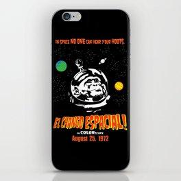 El Chango Espacial Grindhouse Poster iPhone Skin