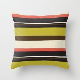 mod stripe Throw Pillow
