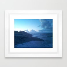 Ocean Breeze Blue Framed Art Print