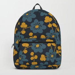 Floral pattern. Hepatica flowers Backpack