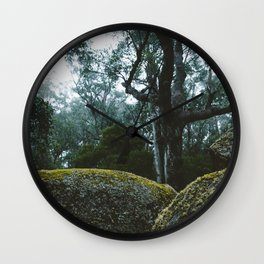 Misty Mornings at Cathedral Rock II Wall Clock