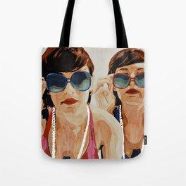 Woman in Vintage Sunglasses Tote Bag