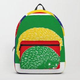 Pop Art Hedgehog Backpack
