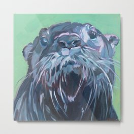 Gramm the Otter Metal Print