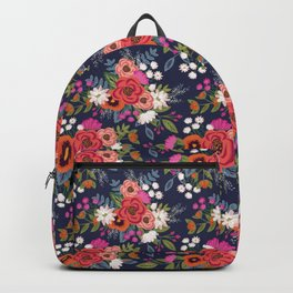 Bohemian Bouquets Floral Pattern Backpack