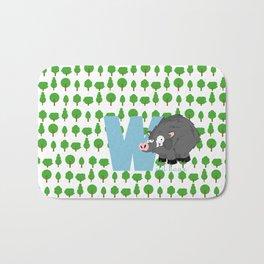 w for wild boar Bath Mat