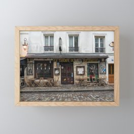 Cafe in Monmartre Paris Framed Mini Art Print