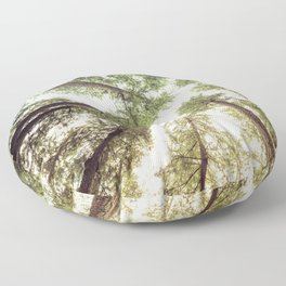 Green Forest Sky Trees Floor Pillow