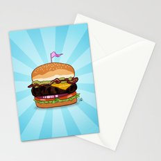Bacon Cheeseburger Tummy Stationery Cards