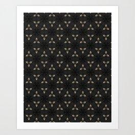 Bones on Black Art Print